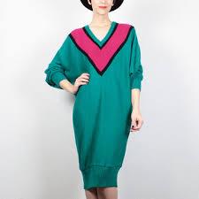 80s sweater dress shop chevron sweater dress on wanelo