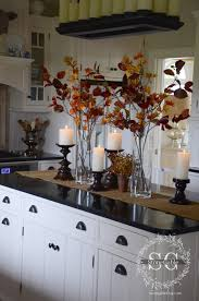 decorating kitchen island fall home tour part 2 fall decor kitchens and decorating