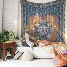 bohemian bedroom bohemian bedroom shop the style tapestry carved wood