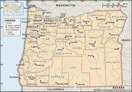 map of oregon with counties oregon counties students britannica homework help