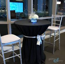renting tables stand up cocktail table rental high top tables partysavvy