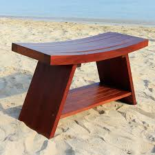teak bench for shower bench decoration