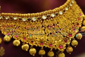 nl4349 one gram exclusive jadau kundan choker necklace grand real