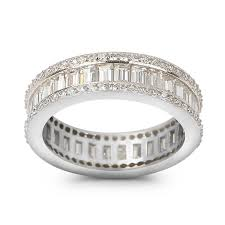 baguette wedding band eternity baguette and cut lab created diamond wedding band ring