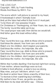 irish thanksgiving prayer old time song lyrics for 48 the love cup