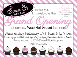 Invitation Card For Grand Opening Sweet E U0027s Grand Opening Sweet E U0027s Blog