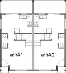 house plan for narrow lot narrow lot duplex house 16 ft wide units