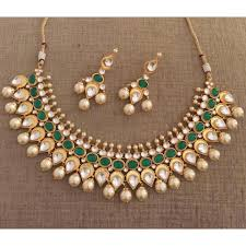 green necklace set images Anamika emerald green necklace set pink chunari jpg