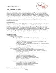 Resume Job Description Examples by Best Photos Of Volunteer Job Descriptions For Resume Volunteer