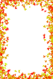fall leaves page borders cfxq clip library