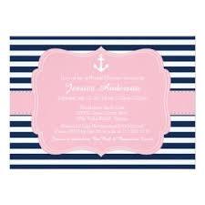 Nautical Bridal Shower Invitations Pink Bridal Shower Invitation Templates Baby Shower Invitations