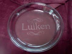 personalized pie plate name flourish pie plate custom engravings personalized with your