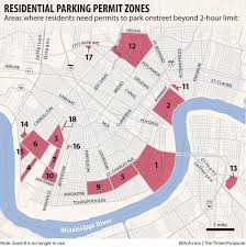 French Quarter Map New Orleans by Parking Permits Near Jazz Fest French Quarter And Universities