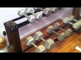 Heavy Duty Diy Bed Youtube by Diy Dumbbell Rack Youtube Home Gym Pinterest Dumbbell