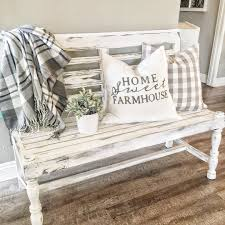 adorable little bench for the home farmhouse pinterest porch