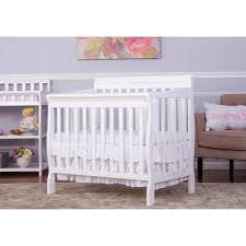 Mini Crib Sheet Size by Dream On Me Aden Convertible 4 In 1 Mini Crib White Toys