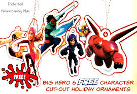 big 6 free character cut out ornaments enchanted
