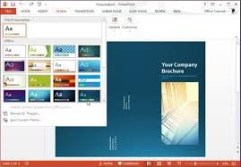 microsoft powerpoint brochure template free brochure templates for