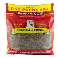 amazon com happy hen treats mealworm frenzy pet treat 1 pouch