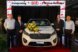 kia vehicles kia celebrates 2 million cars built in the u s