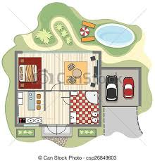 house layout clipart floor plan of house design construction architecture and vector