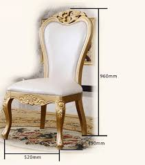 Gold Dining Chairs New Chagne Gold European Solid Wood Dining Chairs Dining Room