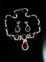 earring necklace rhinestone images 297 best kramer jewelry images vintage jewellery jpg