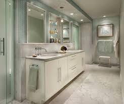 artistic tile i this airy chicago bath pairs sage green accents