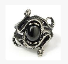 style steel rings images Snake vintage style rings for mens stainless steel ring jpg