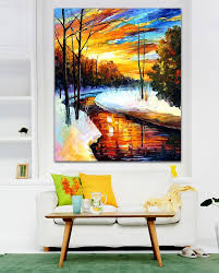 online shop winter sunset 100 hand painted sunsise canvas oil