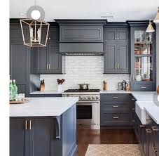 blue gray for kitchen cabinets pin by debby katz interiors on house modern grey kitchen