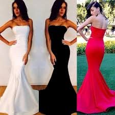 fitted dresses simple strapless prom dresses fitted mermaid prom dresses