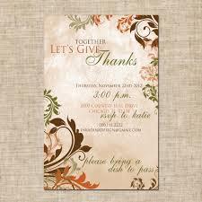 thanksgiving thanksgiving invitations wording for potluck
