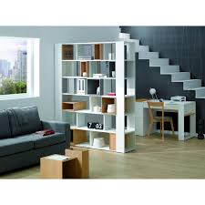 baxton studio barnes 6 shelf modern bookcase white hayneedle