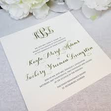 thermography wedding invitations papers custom foil and thermography letterpress