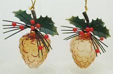 glass pinecone ornament ebay