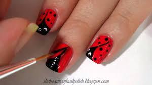 tutorial ladybug nail art youtube