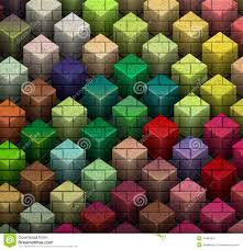 mosaic tile brick wall with color cube pattern stock photo image