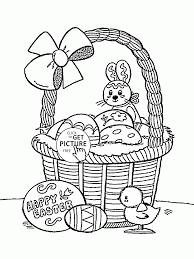 happy easter coloring page for kids coloring pages printables