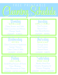Home Clean Free Printable Cleaning Schedule Get The House Clean Freak Clean
