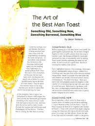 Tips For Making A Wedding Toast by Art Of The Best Man Toast U2014 Modern Gentleman
