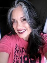 hairstyles with grey streaks asian woman with gray streak in hair awesome silver gray hair