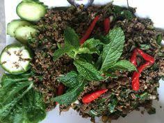 Kia Lao Beef Salad Lard Seen Sod Food 100 Lao Beef
