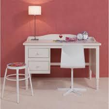meuble bureau enfant bureau enfant design rustique à 2 tiroirs blanc achat vente