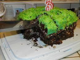 minecraft grass block cake brother u0027s 18th birthday 2012