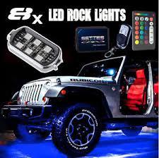 jeep wrangler rock lights 8pcs led rock lights jeep wrangler off road glow under body wheel
