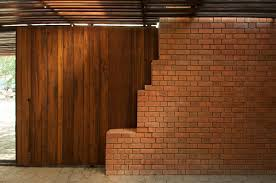 Red Brick Walls Interior Design Wall And Door Ideas At Brick Kiln House Design In Small Village