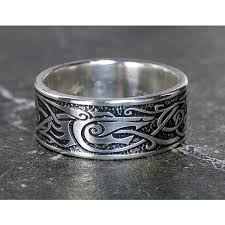 wolf wedding rings viking wolf ring sterling silver viking ring celtic s ring