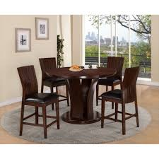 crown mark daria counter height round table set classy dining