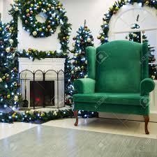 christmas living room with fireplace christmas tree and santa